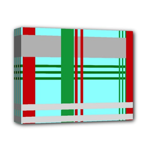 Christmas Plaid Backgrounds Plaid Deluxe Canvas 14  X 11  by Celenk