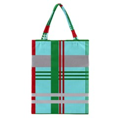 Christmas Plaid Backgrounds Plaid Classic Tote Bag by Celenk