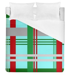Christmas Plaid Backgrounds Plaid Duvet Cover (queen Size) by Celenk