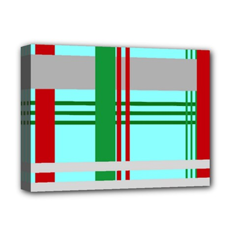 Christmas Plaid Backgrounds Plaid Deluxe Canvas 16  X 12   by Celenk