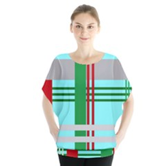 Christmas Plaid Backgrounds Plaid Blouse by Celenk