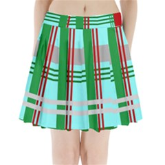 Christmas Plaid Backgrounds Plaid Pleated Mini Skirt by Celenk