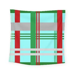 Christmas Plaid Backgrounds Plaid Square Tapestry (small) by Celenk