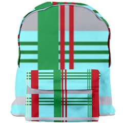 Christmas Plaid Backgrounds Plaid Giant Full Print Backpack by Celenk