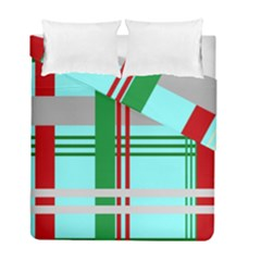 Christmas Plaid Backgrounds Plaid Duvet Cover Double Side (full/ Double Size) by Celenk
