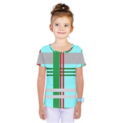 Christmas Plaid Backgrounds Plaid Kids  One Piece Tee by Celenk