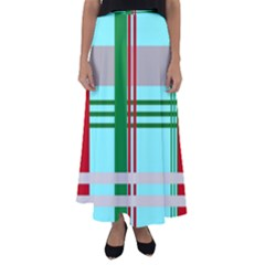 Christmas Plaid Backgrounds Plaid Flared Maxi Skirt by Celenk