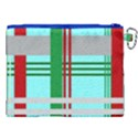 Christmas Plaid Backgrounds Plaid Canvas Cosmetic Bag (XXL) View2
