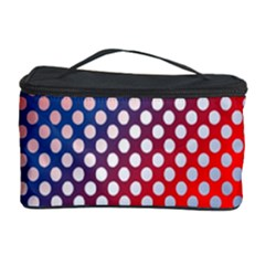 Dots Red White Blue Gradient Cosmetic Storage Case by Celenk