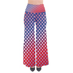 Dots Red White Blue Gradient Pants by Celenk