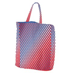 Dots Red White Blue Gradient Giant Grocery Zipper Tote