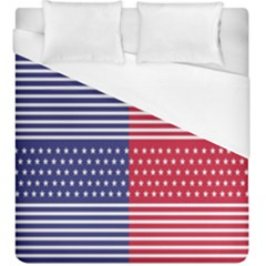 American Flag Patriot Red White Duvet Cover (king Size)