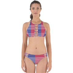 American Flag Patriot Red White Perfectly Cut Out Bikini Set by Celenk