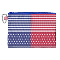 American Flag Patriot Red White Canvas Cosmetic Bag (xl) by Celenk