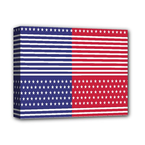 American Flag Patriot Red White Deluxe Canvas 14  X 11  by Celenk