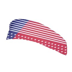 American Flag Patriot Red White Stretchable Headband