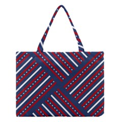 Patriotic Red White Blue Stars Medium Tote Bag by Celenk