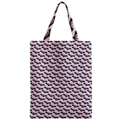 Halloween Lilac Paper Pattern Zipper Classic Tote Bag by Celenk