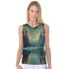 Yosemite Park Landscape Sunrise Women s Basketball Tank Top by Celenk