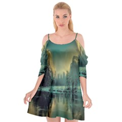 Yosemite Park Landscape Sunrise Cutout Spaghetti Strap Chiffon Dress by Celenk