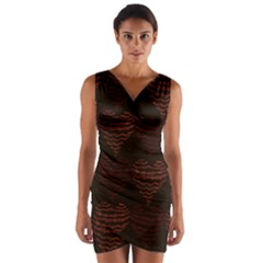 Heart Seamless Background Figure Wrap Front Bodycon Dress