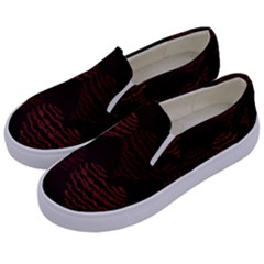 Heart Seamless Background Figure Kids  Canvas Slip Ons by Celenk