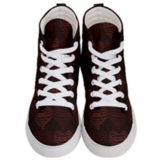 Heart Seamless Background Figure Women s Hi-top Skate Sneakers
