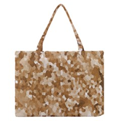 Texture Background Backdrop Brown Zipper Medium Tote Bag by Celenk