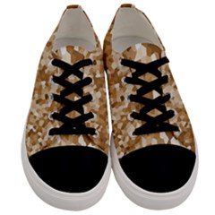 Texture Background Backdrop Brown Men s Low Top Canvas Sneakers