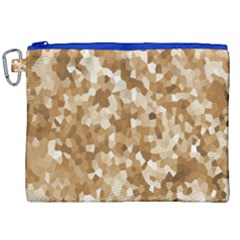 Texture Background Backdrop Brown Canvas Cosmetic Bag (xxl)