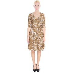 Texture Background Backdrop Brown Wrap Up Cocktail Dress