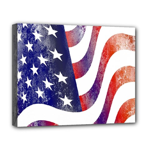 Usa Flag America American Deluxe Canvas 20  X 16   by Celenk