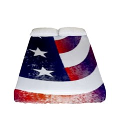Usa Flag America American Fitted Sheet (full/ Double Size) by Celenk