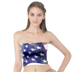 Usa Flag America American Tube Top by Celenk