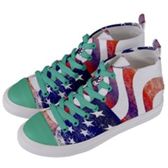 Usa Flag America American Women s Mid-top Canvas Sneakers by Celenk