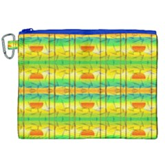 Birds Beach Sun Abstract Pattern Canvas Cosmetic Bag (xxl) by Celenk