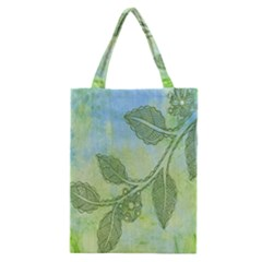 Green Leaves Background Scrapbook Classic Tote Bag by Celenk
