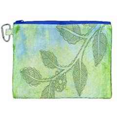 Green Leaves Background Scrapbook Canvas Cosmetic Bag (xxl) by Celenk