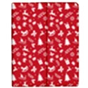 Red Christmas Pattern Apple iPad Mini Flip Case View1