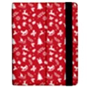 Red Christmas Pattern Apple iPad Mini Flip Case View2