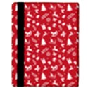 Red Christmas Pattern Apple iPad Mini Flip Case View3