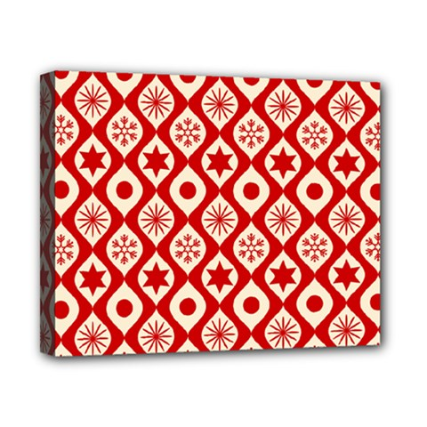 Ornate Christmas Decor Pattern Canvas 10  X 8  by patternstudio