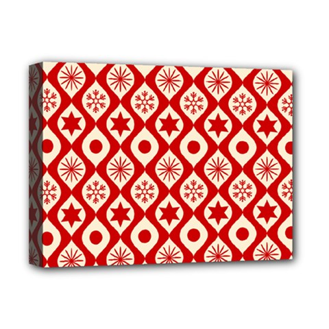 Ornate Christmas Decor Pattern Deluxe Canvas 16  X 12   by patternstudio