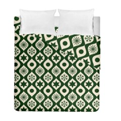 Green Ornate Christmas Pattern Duvet Cover Double Side (full/ Double Size) by patternstudio