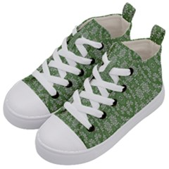 Art Pattern Design Holiday Color Kid s Mid-top Canvas Sneakers by Celenk