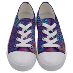 Gateway To The Light 5 Kids  Low Top Canvas Sneakers