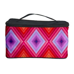 Texture Surface Orange Pink Cosmetic Storage Case by Celenk