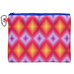 Texture Surface Orange Pink Canvas Cosmetic Bag (xxl)