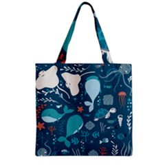 Cool Sea Life Pattern Grocery Tote Bag by allthingseveryday