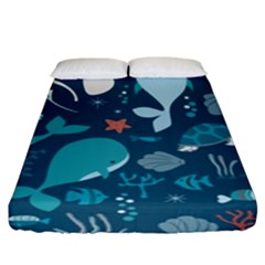 Cool Sea Life Pattern Fitted Sheet (king Size)